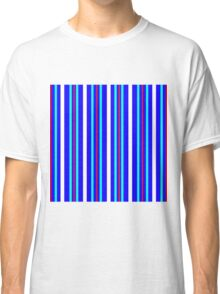 Vertical Stripes  Blue Red Turquoise White Classic T-Shirt
