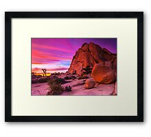 Last Nights Sunset 022015 Framed Print