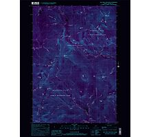 Maine USGS Historical Map Old Speck Mountain 102845 2000 24000 Inversion Photographic Print