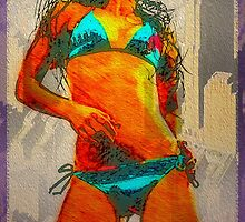 Beach Girl Big City by David Rozansky