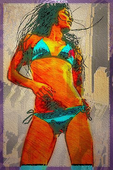 Beach Girl Big City by David Rozansky