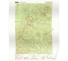 Maine USGS Historical Map Old Speck Mountain 102845 2000 24000 Poster