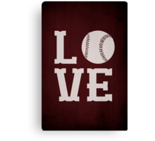Baseball Love Canvas Print