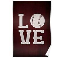 Baseball Love Poster