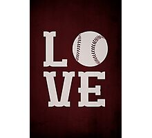 Baseball Love Photographic Print