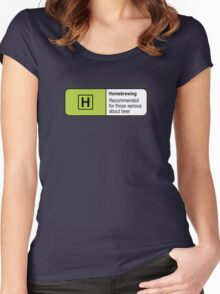 Homebrewing Classification Women's Fitted Scoop T-Shirt