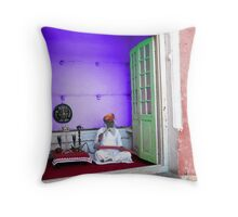 Opium Smoker in Jodhpur Throw Pillow