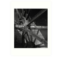 Mill Wheel - New Lanark Scotland Art Print