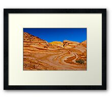Valley of Fire, Fire Wave Framed Print