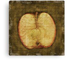 Apple Halved Canvas Print