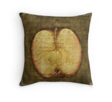 Apple Halved Throw Pillow