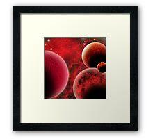 Crimson Space Framed Print