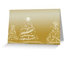 Gold Twinklers Greeting Card