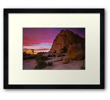 Joshua Tree Sunset  Intersection Rocks Framed Print