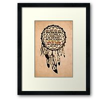 Manifesto | Nahko & MFTP Fan Made Design  Framed Print