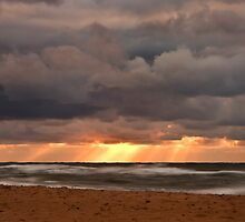 Sunset Rays from a Stormy Sky by EvaMcDermott