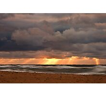 Sunset Rays from a Stormy Sky Photographic Print