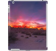 Joshua Tree Sunset Looking Towards Hidden Valley iPad Case/Skin