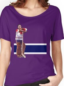 Ken Dryden - The Pose (red) Women's Relaxed Fit T-Shirt