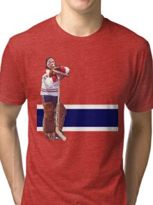Ken Dryden - The Pose (red) Tri-blend T-Shirt