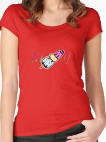 blam rocket lolly Women's Fitted Scoop T-Shirt