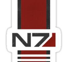 White N7 Stripe Sticker