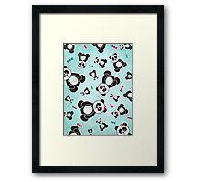 Panda Freefall Framed Print