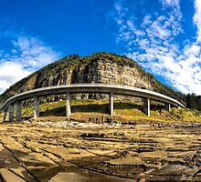 Sea Cliff Bridge at Low Tide by John Sharp
