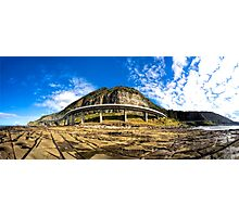 Sea Cliff Bridge at Low Tide Photographic Print