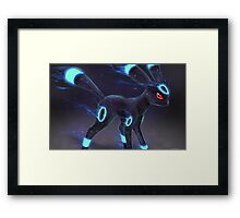 Umbreon Pokemon Cool Dark Eevee Evolution Framed Print