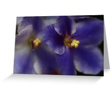 Mosaic African Violet Greeting Card