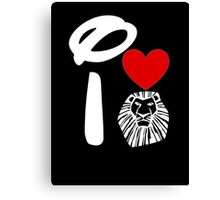 I Heart The Lion King (Inverted) Canvas Print