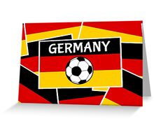 German Flag with Football Greeting Card