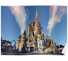 Cinderella's Castle Dream Along With Mickey Poster