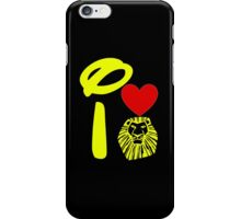I Heart The Lion King (Gold) iPhone Case/Skin