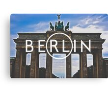 Berlin Typography Print Canvas Print