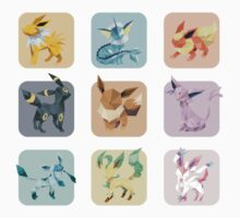 Origami Eeveelutions in Squares Kids Clothes