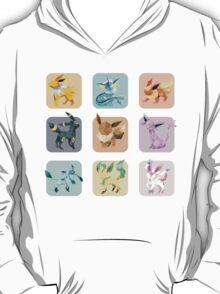 Origami Eeveelutions in Squares T-Shirt