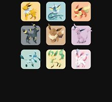 Origami Eeveelutions in Squares T-Shirt