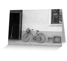 Beijing Bicycle Awaits Greeting Card