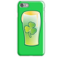Green shamrock Irish Pint of beer iPhone Case/Skin