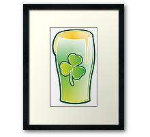Green shamrock Irish Pint of beer Framed Print