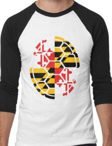 Maryland Flag Shell Men's Baseball ¾ T-Shirt