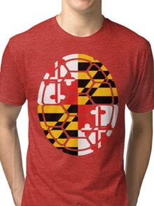 Maryland Flag Shell Tri-blend T-Shirt