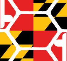 Maryland Flag Shell Sticker