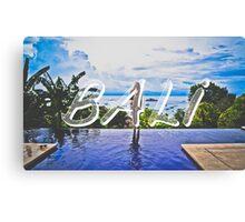 Bali Typography Print Canvas Print