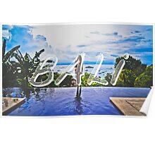 Bali Typography Print Poster