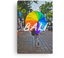 Bali Umbrella Typography Print Canvas Print