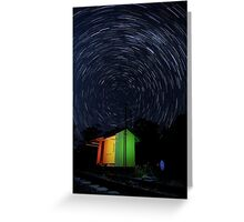 Swanbank Siding Startrails Greeting Card