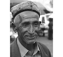 Uyghur grandfather Photographic Print
